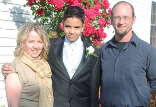 Kaya prom with parents