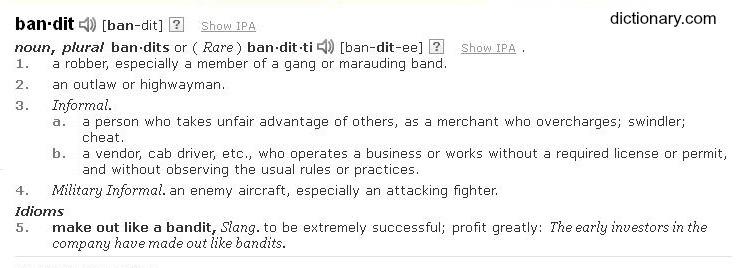 Bandit definition