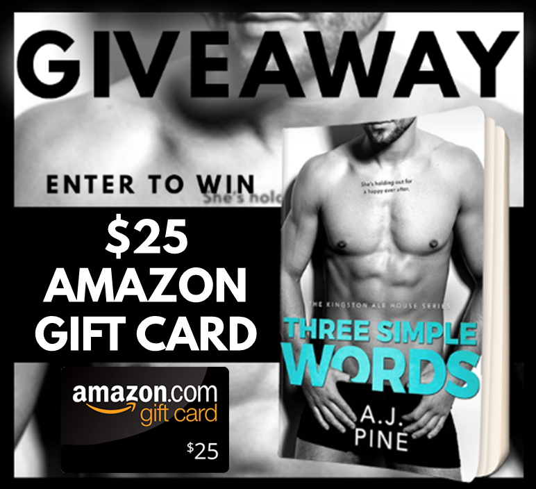 Three Simple Words Giveaway Graphic