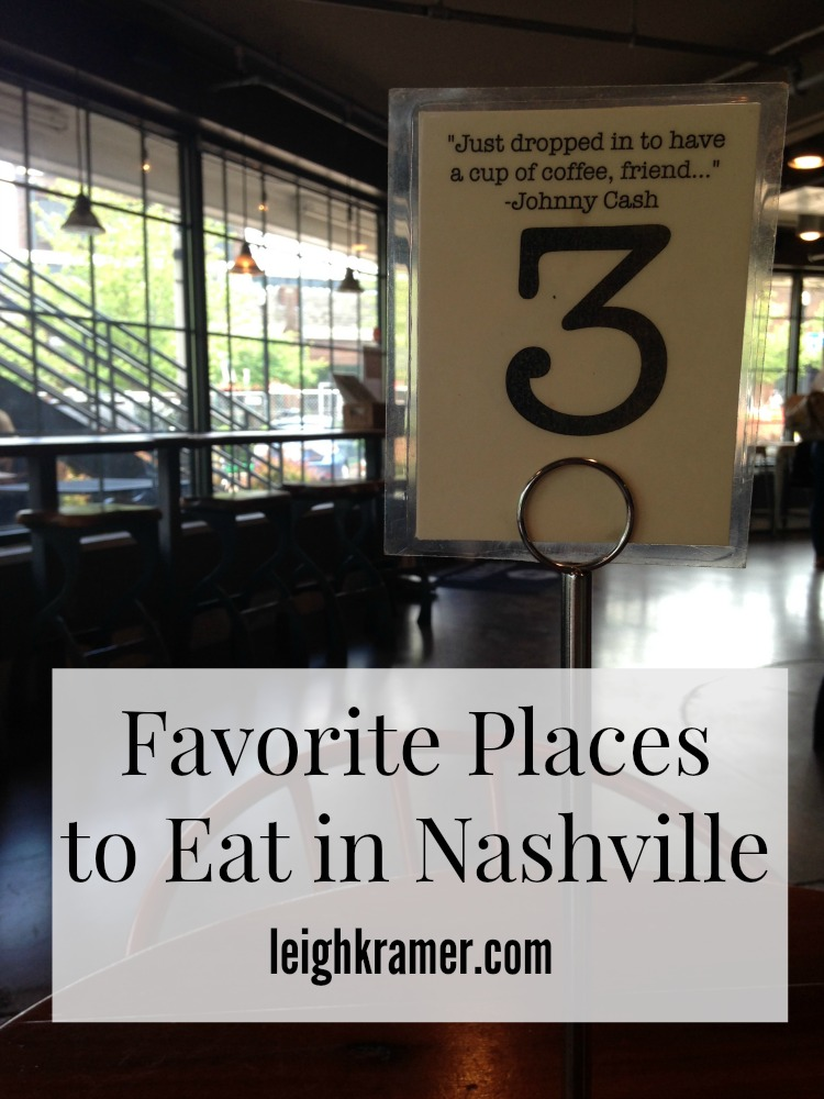 Favorite Places to Eat in Nashville