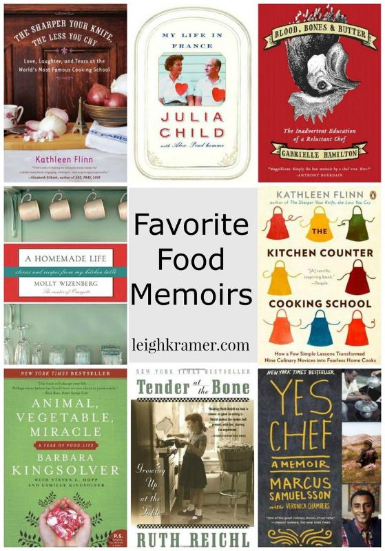 Favorite Food Memoirs via LeighKramer.com